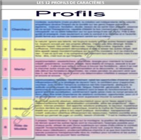 Les 12 Profils de caractères